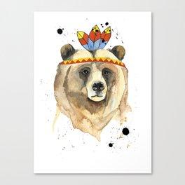 Mr Bear! Canvas Print