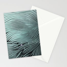 Red composition of multiple directional lines. Stationery Cards