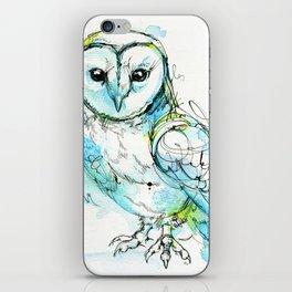 Aqua Tyto Owl iPhone Skin