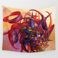 sci fi Wall Tapestries featuring Sci-fi insect by Gaspar Avila