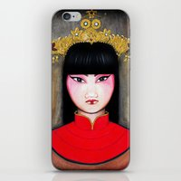 asia iPhone & iPod Skins featuring Asia by Melanie Arias