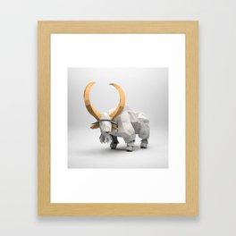The Paper Fox : Goat Framed Art Print