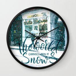Snow Street Wall Clock
