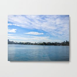 Sydney Harbour And Bridge Metal Print