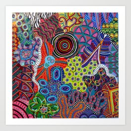 Endless Chaos Art Print