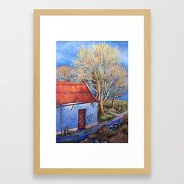 Evening Sun on the Barn Framed Art Print