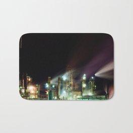 Refinery at Night Bath Mat