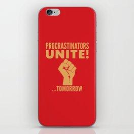 Procrastinators Unite Tomorrow (Red) iPhone Skin