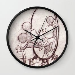 Mouse in the Mirror Wall Clock