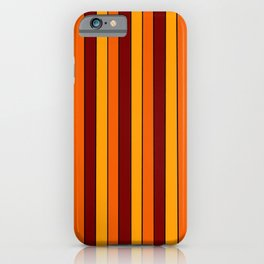 Autumn Pinstripe in Gold, Orange and Burgundy iPhone Case