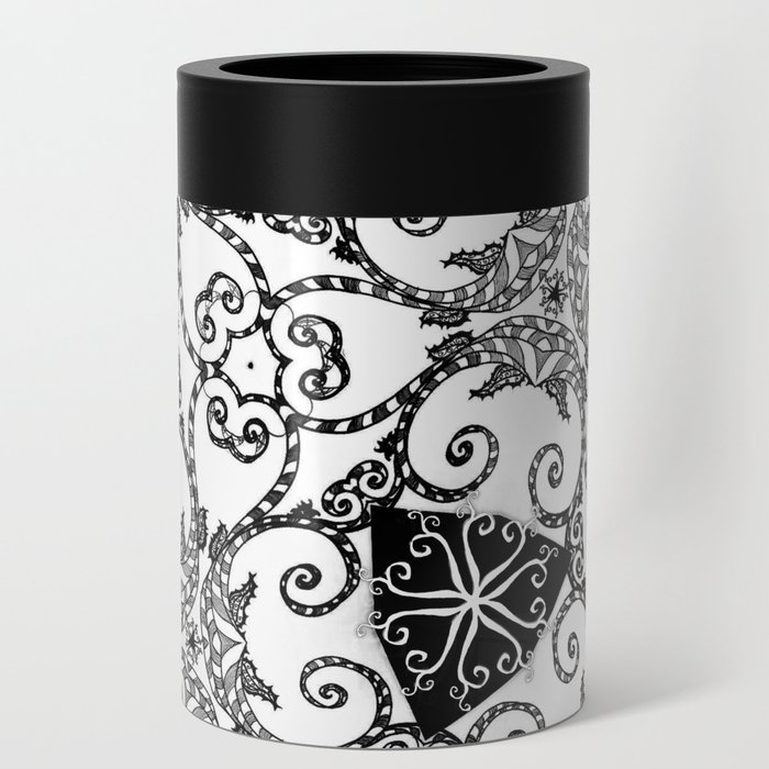 Candy Cane Tangle Can Cooler