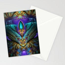 Transcendental - Fractal Manipulation Stationery Cards