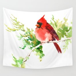 Cardinal Bird, stet birds decor design cardinal bird lover gift Wall Tapestry