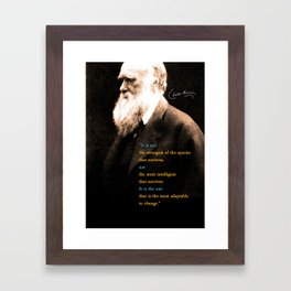 Charles Darwin Inspirational Quote Framed Art Print