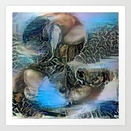 Blue Polignano Ambersand Art Print