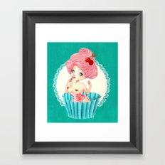 Cupcake Girl Framed Art Print