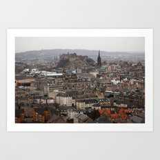 Edinburgh in the Rain Art Print