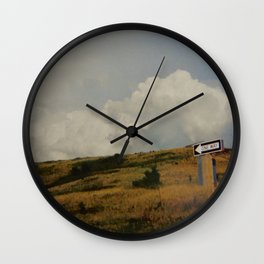 One Way Out Wall Clock