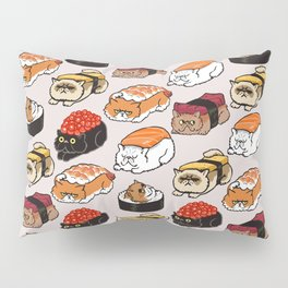 Sushi Persian Cat Pillow Sham