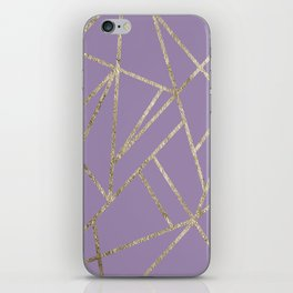 Classic Lavender Gold Geo #1 #geometric #decor #art #society6 iPhone Skin
