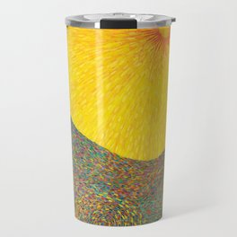 Here Comes the Sun - Van Gogh impressionist abstract Travel Mug