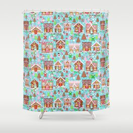 Gingerbread House Christmas Winter Candy, sweets.christmas gift, holiday gift for kids of all ages, Shower Curtain