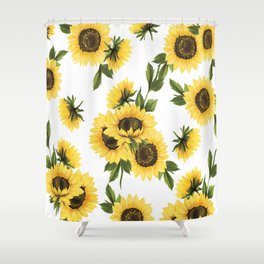 Lovely Sunflower Shower Curtain