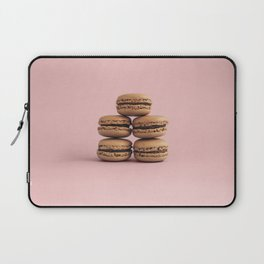 Macaroons on pink background Laptop Sleeve
