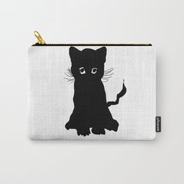 sweet black kitten digital painting Carry-All Pouch