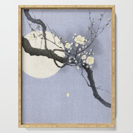 Full Moon and blossom Serving Tray