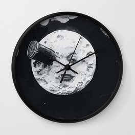 A Boring Moon Wall Clock