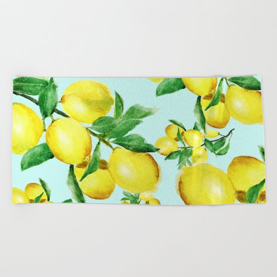 lemon 2 Beach Towel