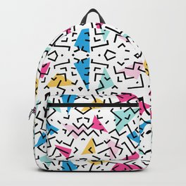 90's Dizzy Funky Colorful Pattern Backpack
