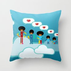 Jacksons Pixel Art Throw Pillow