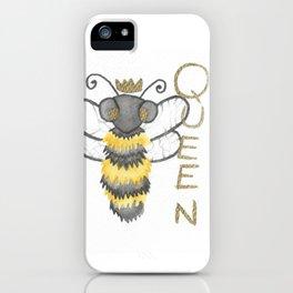 Cute Watercolour Queen Bee iPhone Case