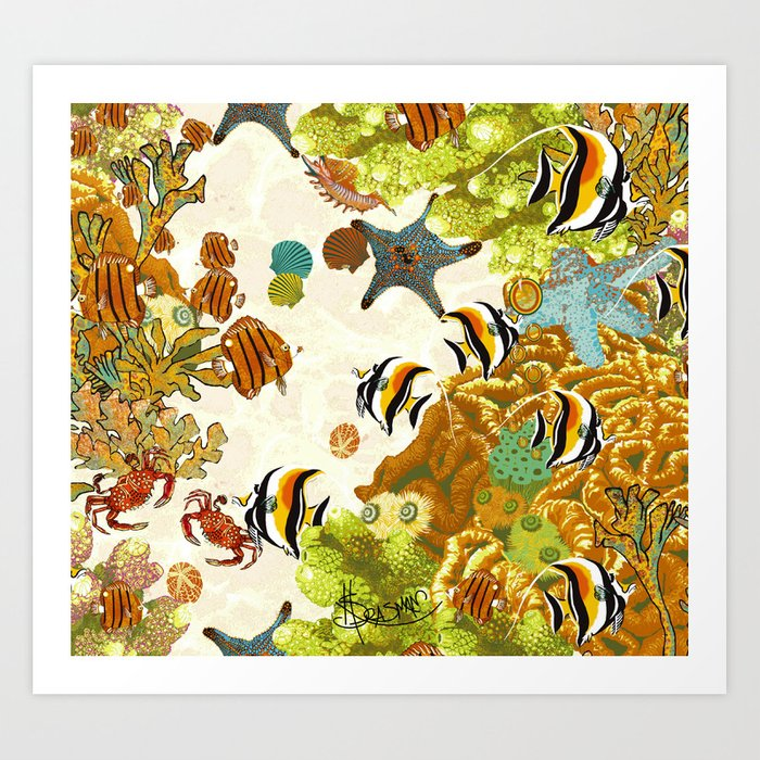 The Great Barrier Reef Art Print