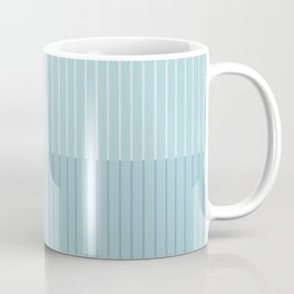 Color Block Lines VIII Blue Coffee Mug