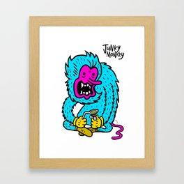 JUNKY MONKEY Framed Art Print