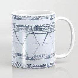 Simply Tribal Shibori in Indigo Blue on Sky Blue Coffee Mug