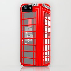 RED PHONE BOOTH iPhone (5, 5s) Slim Case