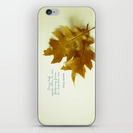 Every leaf speaks bliss iPhone Skin
