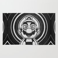 mario bros Area & Throw Rugs featuring Super Trippin Bros. Mario is All Stars. by Barrett Biggers