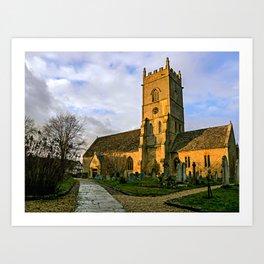 Beckford Church Art Print