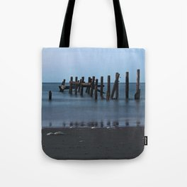 Happisburgh Beach Groynes Tote Bag