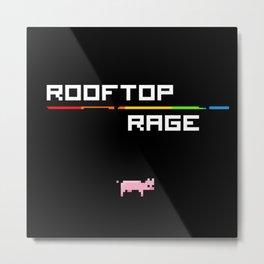 Rooftop Rage Title Metal Print