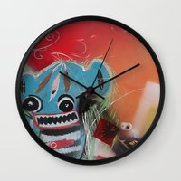 bible Wall Clocks featuring Peyote Bible School by David Howell