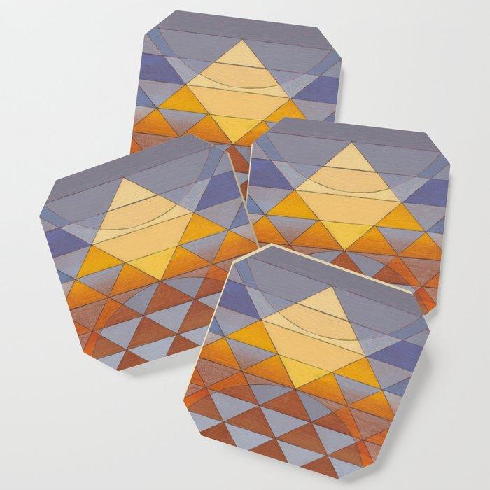 Pyramid Sun Mauve Purple Coaster