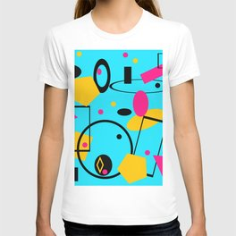 retro abstract blue T-shirt