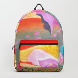Folk Art Angel Painting Backpack
