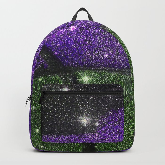 Purple Starry Eyed Dog Backpack